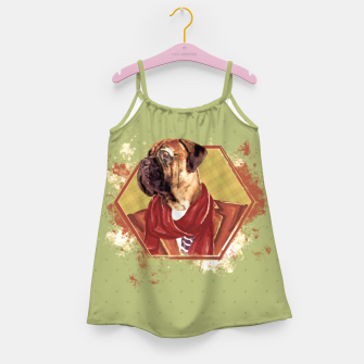 Thumbnail image of Hipster Bullmastiff Girl's dress, Live Heroes