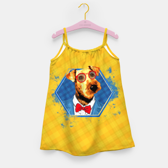 Thumbnail image of Hipster Airedale Terrier  Girl's dress, Live Heroes