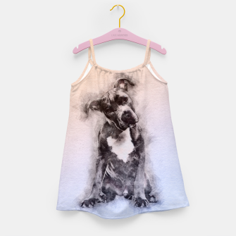 Thumbnail image of American Staffordshire Terrier - Amstaff Puppy Girl's dress, Live Heroes