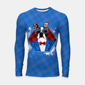 Thumbnail image of Hipster French Bulldog -Frenchie  Longsleeve rashguard , Live Heroes