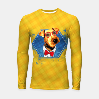 Thumbnail image of Hipster Airedale Terrier  Longsleeve rashguard , Live Heroes