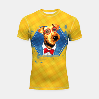 Thumbnail image of Hipster Airedale Terrier  Shortsleeve rashguard, Live Heroes