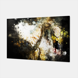Thumbnail image of gxp swan in action splatter watercolor Canvas, Live Heroes
