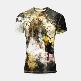 Miniatur gxp swan in action splatter watercolor Shortsleeve rashguard, Live Heroes
