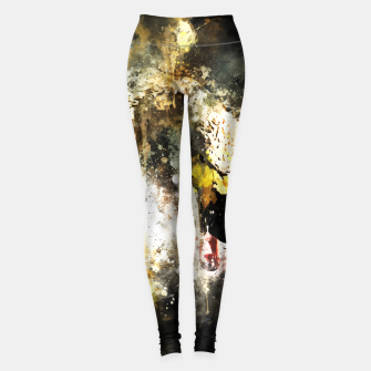 Miniatur gxp swan in action splatter watercolor Leggings, Live Heroes