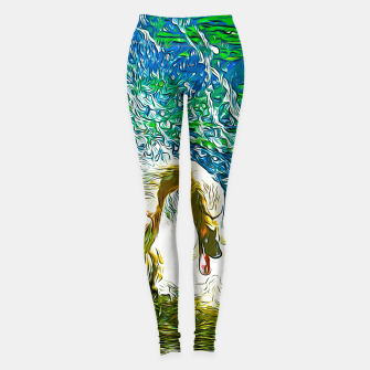 Miniatur gxp swan in action vector art Leggings, Live Heroes