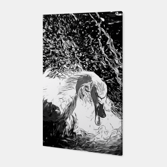 Thumbnail image of gxp swan in action vector art black white Canvas, Live Heroes