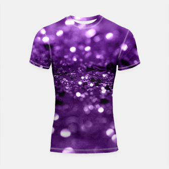 Miniatur Purple Lady Glitter #1 #shiny #decor #art Shortsleeve rashguard, Live Heroes
