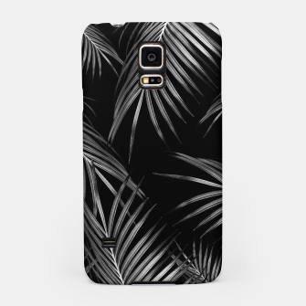 Thumbnail image of Silver Gray Black Palm Leaves Dream #1 #tropical #decor #art Handyhülle für Samsung, Live Heroes
