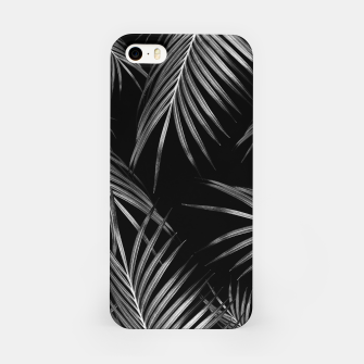 Thumbnail image of Silver Gray Black Palm Leaves Dream #1 #tropical #decor #art iPhone-Hülle, Live Heroes