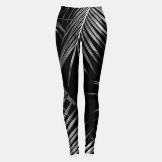 Miniatur Silver Gray Black Palm Leaves Dream #1 #tropical #decor #art Leggings, Live Heroes
