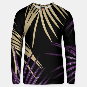 Thumbnail image of Purple Gold Palm Leaves Dream #1 #tropical #decor #art Baumwoll sweatshirt, Live Heroes