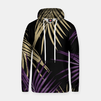Thumbnail image of Purple Gold Palm Leaves Dream #1 #tropical #decor #art Baumwoll Kapuzenpullover, Live Heroes