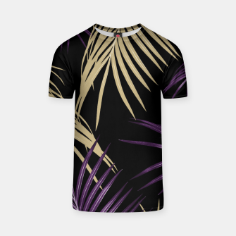 Thumbnail image of Purple Gold Palm Leaves Dream #1 #tropical #decor #art T-Shirt, Live Heroes