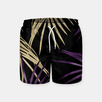 Thumbnail image of Purple Gold Palm Leaves Dream #1 #tropical #decor #art Badeshorts, Live Heroes