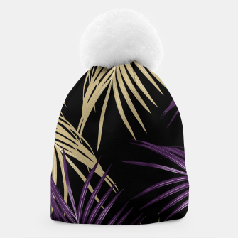 Thumbnail image of Purple Gold Palm Leaves Dream #1 #tropical #decor #art Mütze, Live Heroes