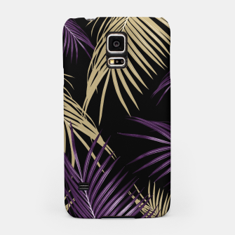 Thumbnail image of Purple Gold Palm Leaves Dream #1 #tropical #decor #art Handyhülle für Samsung, Live Heroes