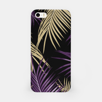 Thumbnail image of Purple Gold Palm Leaves Dream #1 #tropical #decor #art iPhone-Hülle, Live Heroes