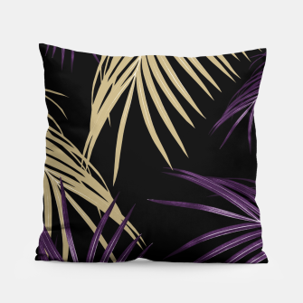 Thumbnail image of Purple Gold Palm Leaves Dream #1 #tropical #decor #art Kissen, Live Heroes