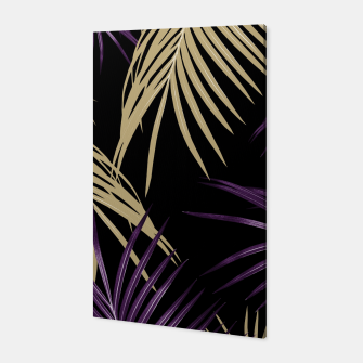 Thumbnail image of Purple Gold Palm Leaves Dream #1 #tropical #decor #art Canvas, Live Heroes