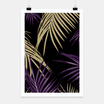 Thumbnail image of Purple Gold Palm Leaves Dream #1 #tropical #decor #art Plakat, Live Heroes