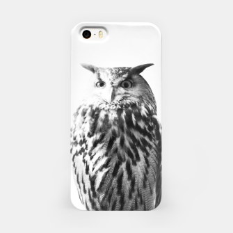 Thumbnail image of Owl on White #1 #animal #decor #art iPhone-Hülle, Live Heroes