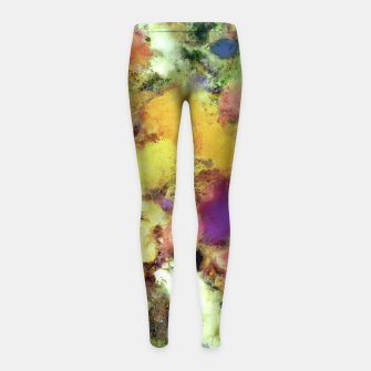 Thumbnail image of Forgotten petals Girl's leggings, Live Heroes