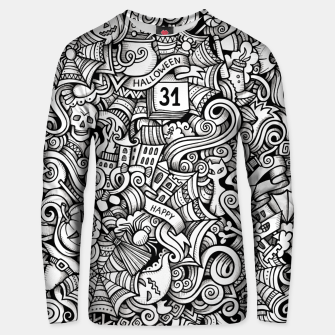 Thumbnail image of halloween doodle Cotton sweater, Live Heroes