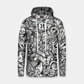 Thumbnail image of halloween doodle Cotton hoodie, Live Heroes