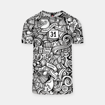 Thumbnail image of halloween doodle T-shirt, Live Heroes