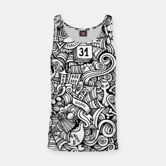 Thumbnail image of halloween doodle Tank Top, Live Heroes