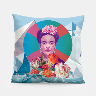 Thumbnail image of Cool Frida Kahlo Pillow, Live Heroes