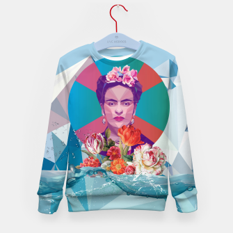 Thumbnail image of Cool Frida Kahlo Kid's sweater, Live Heroes