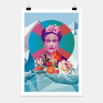 Thumbnail image of Cool Frida Kahlo Poster, Live Heroes