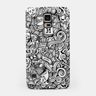 Thumbnail image of halloween doodle Samsung Case, Live Heroes