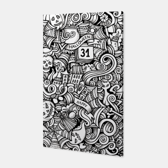 Thumbnail image of halloween doodle Canvas, Live Heroes