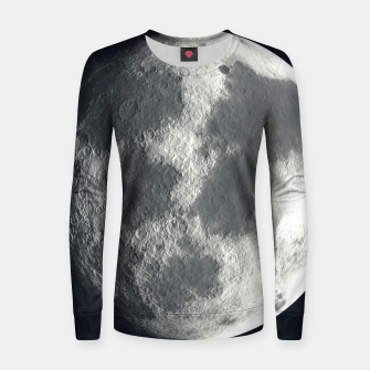Thumbnail image of Universe Galaxy Planet The Moon Woman cotton sweater, Live Heroes