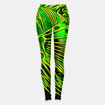 Miniatur gxp lionfish vector art green Leggings, Live Heroes