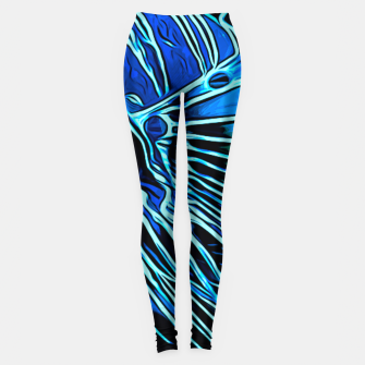gxp lionfish vector art blue Leggings Bild der Miniatur