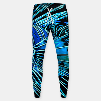 gxp lionfish vector art blue Cotton sweatpants Bild der Miniatur
