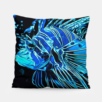 gxp lionfish vector art blue Pillow Bild der Miniatur