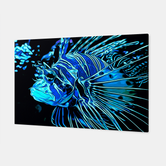 gxp lionfish vector art blue Canvas Bild der Miniatur