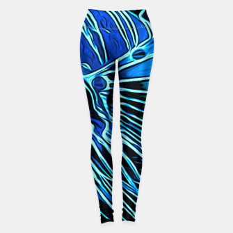 Miniatur gxp lionfish vector art blue Leggings, Live Heroes
