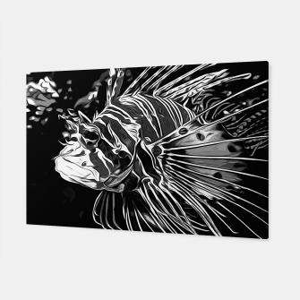 Thumbnail image of gxp lionfish vector art black white Canvas, Live Heroes