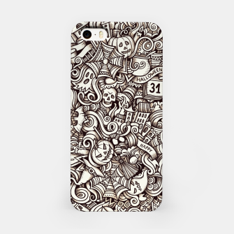 Thumbnail image of Halloween doodle iPhone Case, Live Heroes