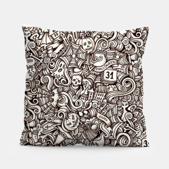 Thumbnail image of Halloween doodle Pillow, Live Heroes