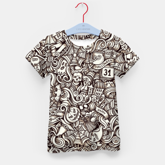 Thumbnail image of Halloween doodle Kid's t-shirt, Live Heroes