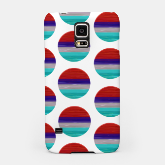 Miniaturka dots red white green  Samsung Case, Live Heroes