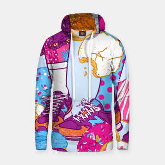 Thumbnail image of Don't step over donuts Cotton hoodie, Live Heroes