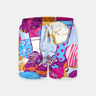 Thumbnail image of Don't step over donuts Swim Shorts, Live Heroes